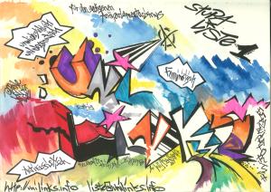 Wahlplakat 2012 im Graffiti-Stil